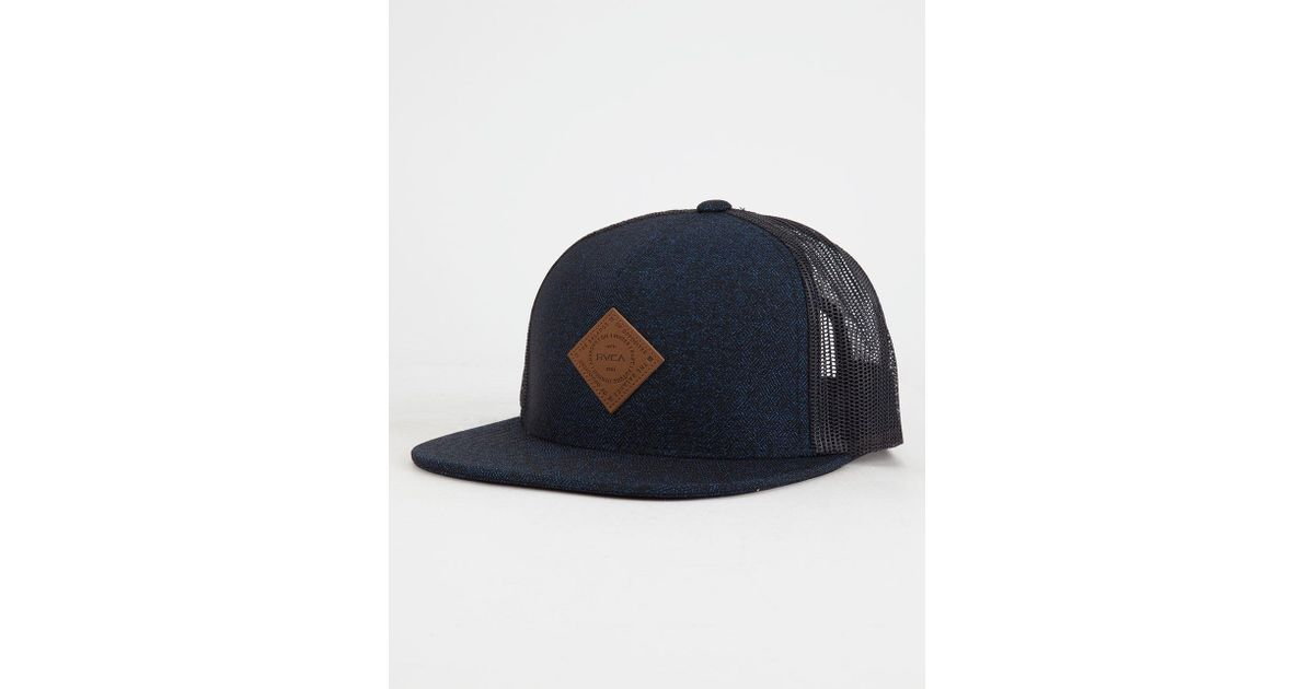 3d08afc114d2b Lyst - Rvca Finley Trucker Hat in Blue for Men