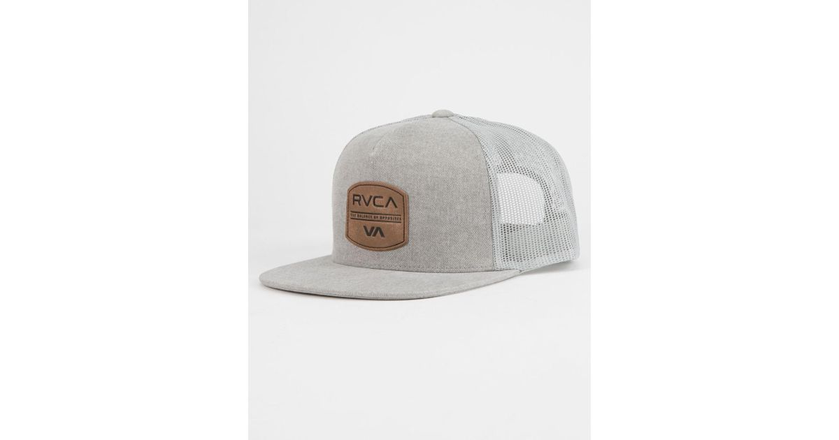 031774410a3 Lyst - RVCA Denim Mens Trucker Hat in Gray for Men