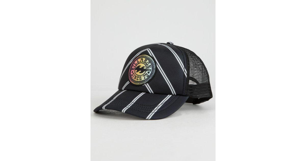 ae227c714 Billabong - Heritage Mashup Black & White Womens Trucker Hat - Lyst