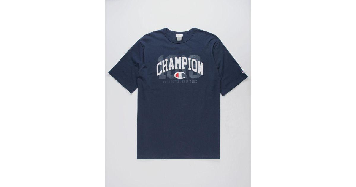 0396cf1b7194 Champion 1919 Logo Navy Mens T-shirt in Blue for Men - Lyst