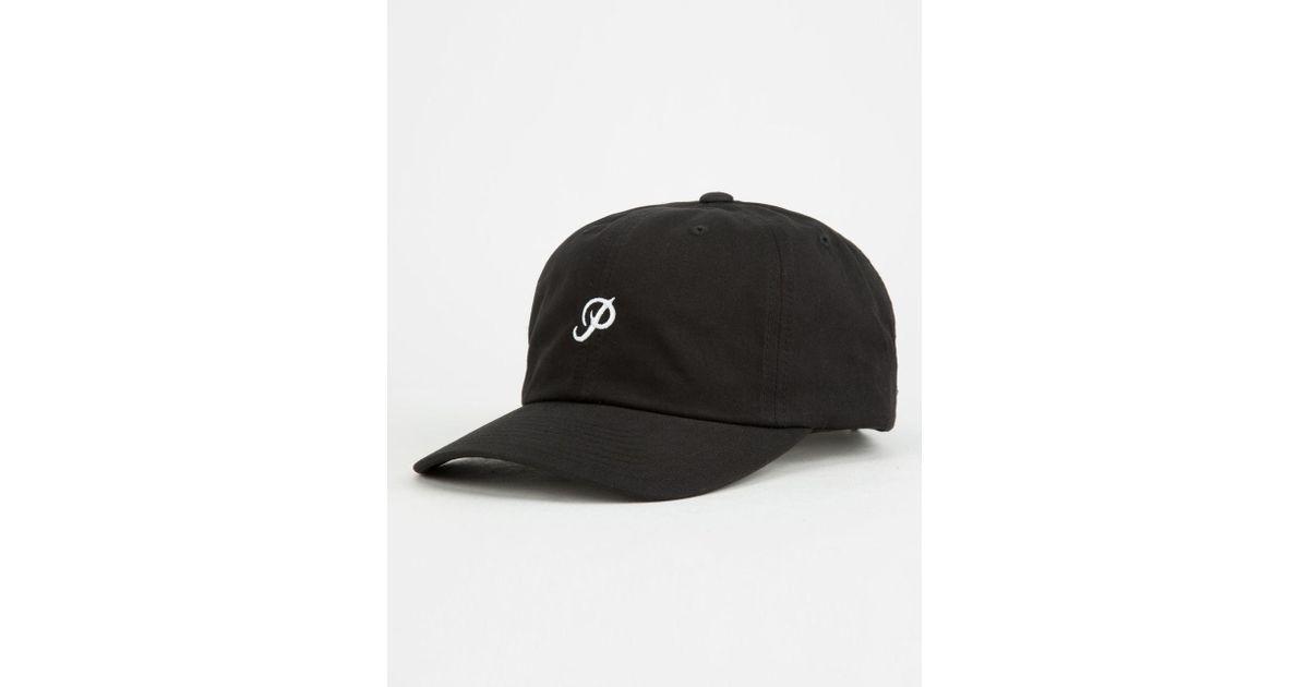 Lyst - Primitive Mini Classic P Dad Hat in Black for Men 719c4f2c4fa