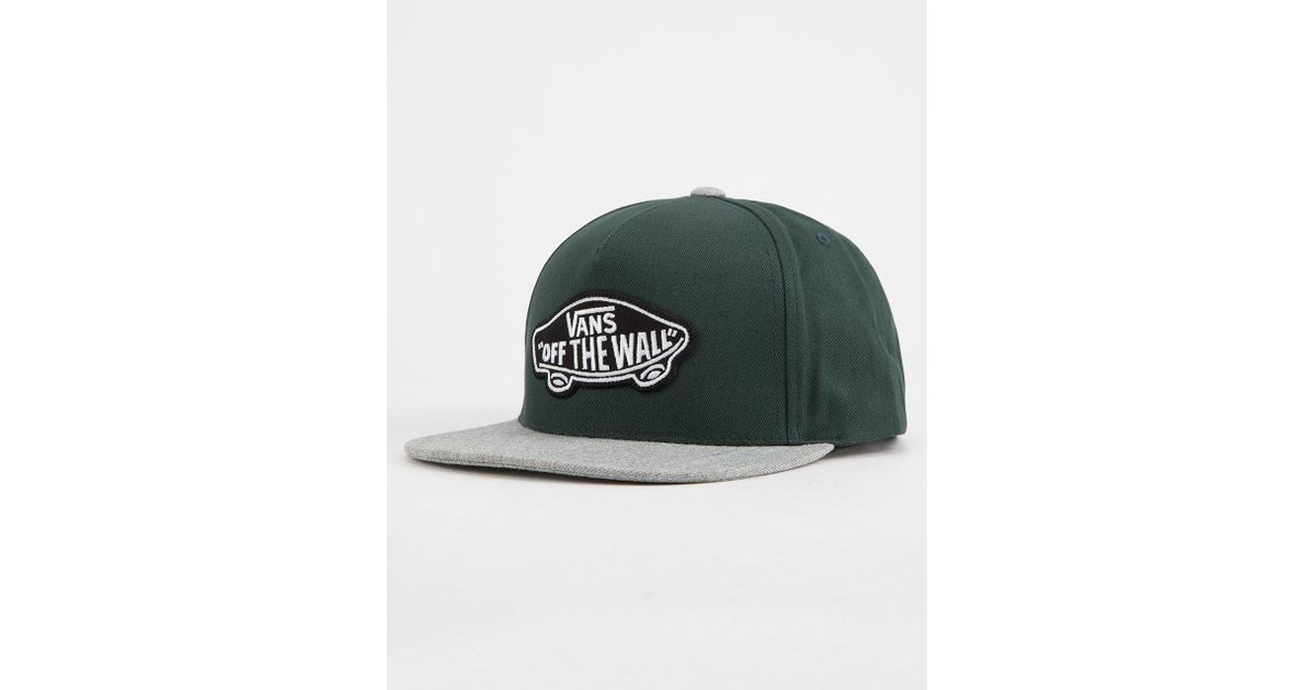 e458d969c0ea49 Lyst - Vans Classic Patch Snapback Hat (darkest Spruce Heather) Caps in  Green for Men