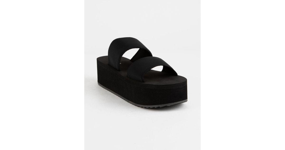 Felicia Black Womens Platform Sandals