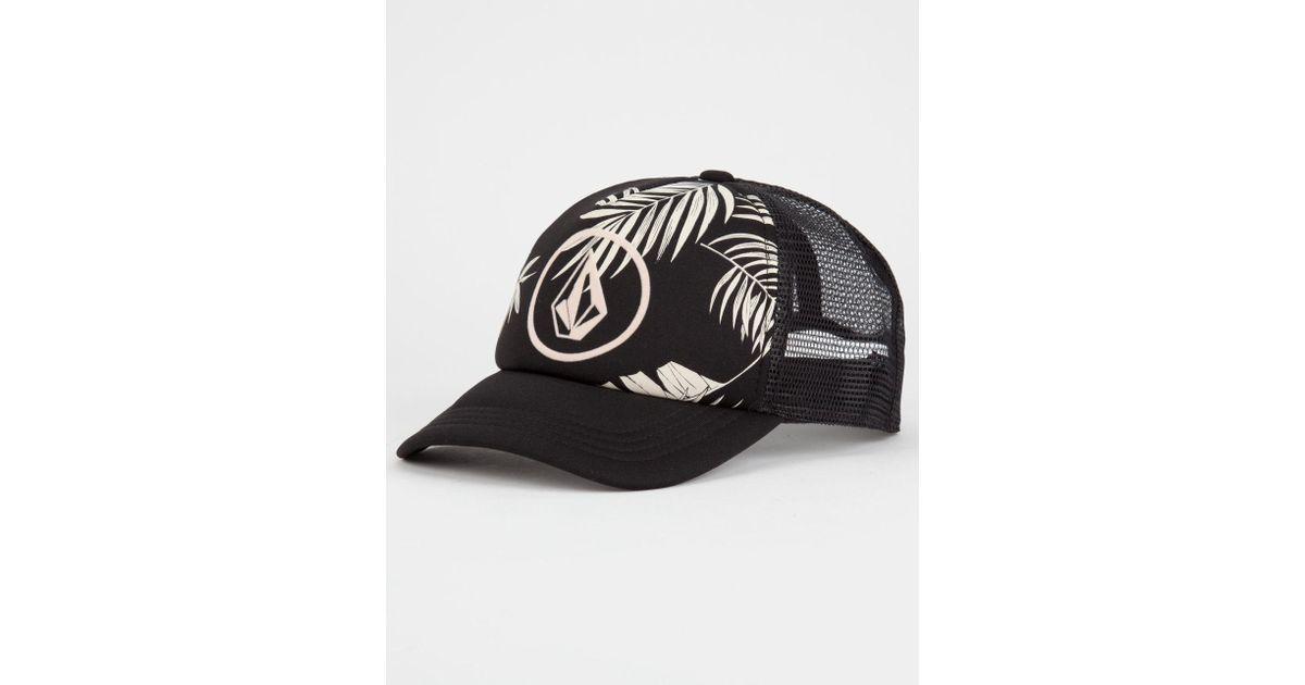 ... low cost lyst volcom ocean drift womens trucker hat in black da00d  c74ea ... 27c06006f715