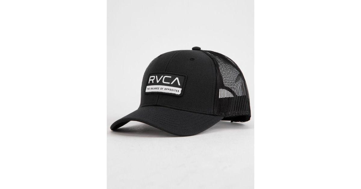 wholesale dealer a0234 a2f09 RVCA Reno Mens Trucker Hat in Black for Men - Lyst