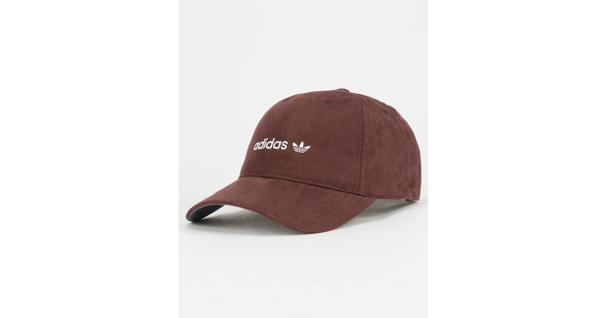 bad3ee5ed Lyst - adidas Originals Relaxed Plus Burgundy & White Womens Strapback Hat