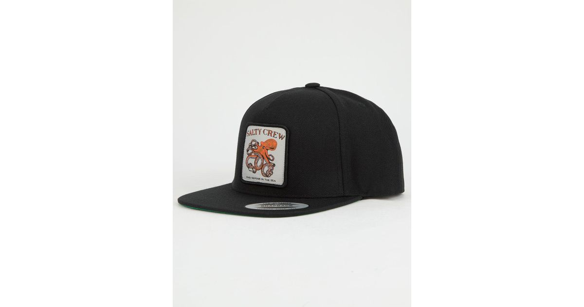 the best attitude dddbe a8519 ... official store lyst salty crew eight legs mens snapback hat in black  for men 153c5 37efc