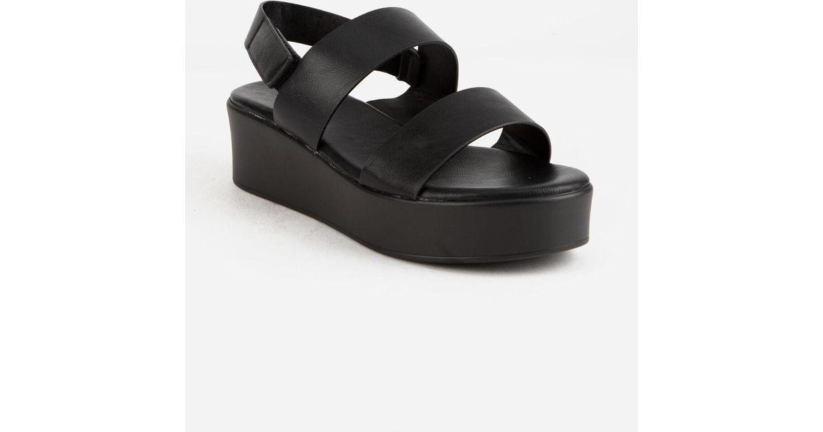 Bamboo 2 Strap Womens Flatform Sandals
