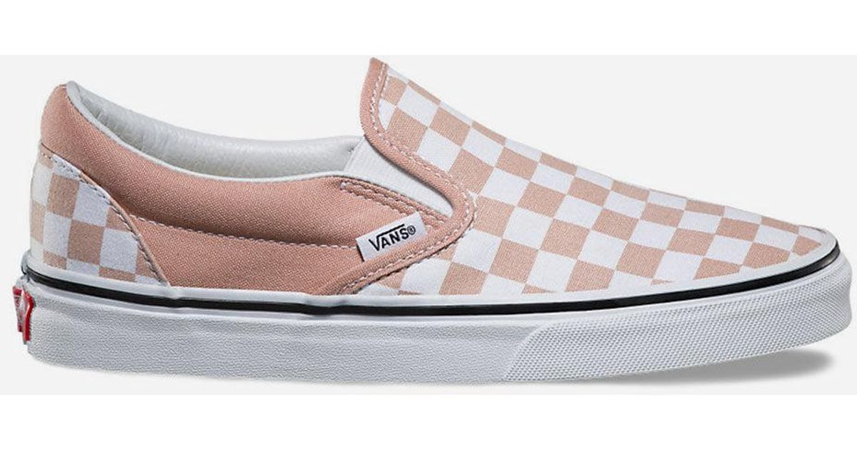 lyst vans checkerboard slip on womens shoes