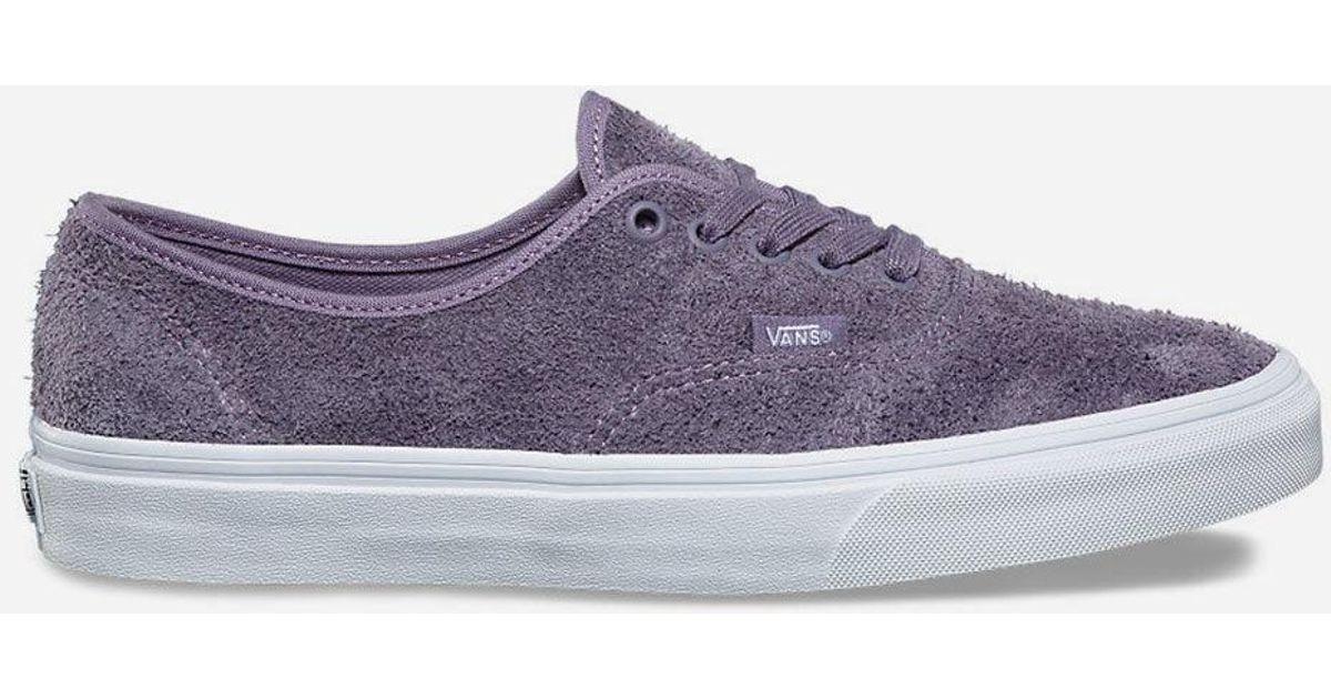 2791c43a88b8 Lyst - Vans Hairy Suede Authentic Purple Sage Mens Shoes in Purple for Men