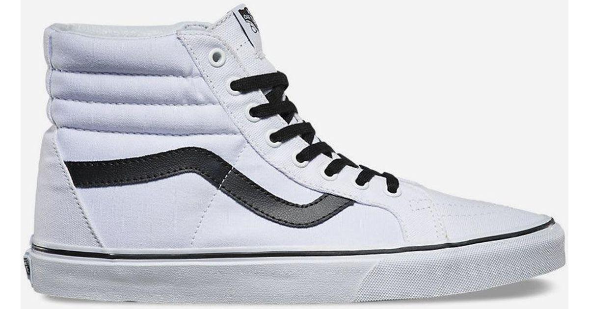 5f6117846718c Vans Sk8-hi Reissue True White & Black Mens Shoes in White for Men - Lyst