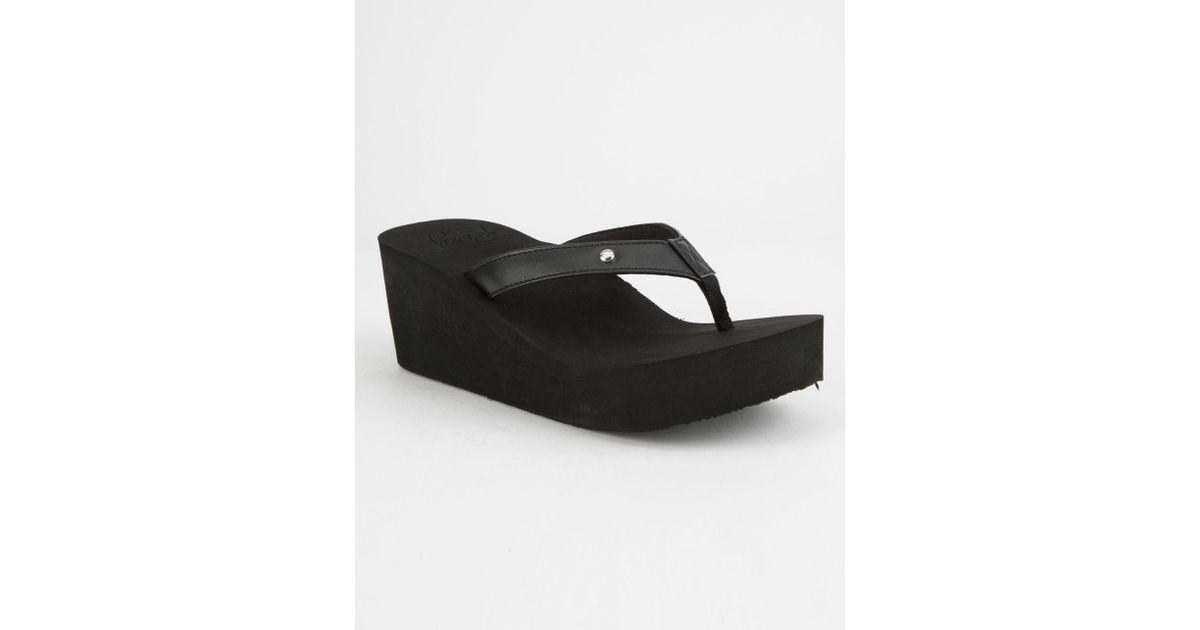 8f594765227ba6 Lyst - Roxy Mellie Wedge Womens Sandals in Black