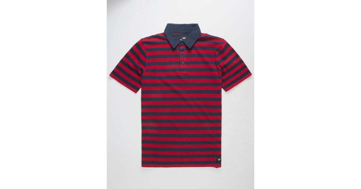 4f9e0dd3ab Lyst - Vans X Chima Ferguson Chima Striped Mens Polo Shirt in Red for Men