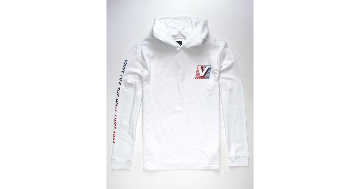 c2bbb7f1 Vans White Van Doren Mens Hooded T-shirt for men