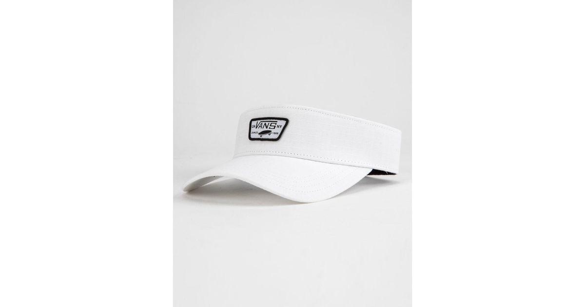 Lyst - Vans Visor Hat in White for Men 8a394fb9b1d