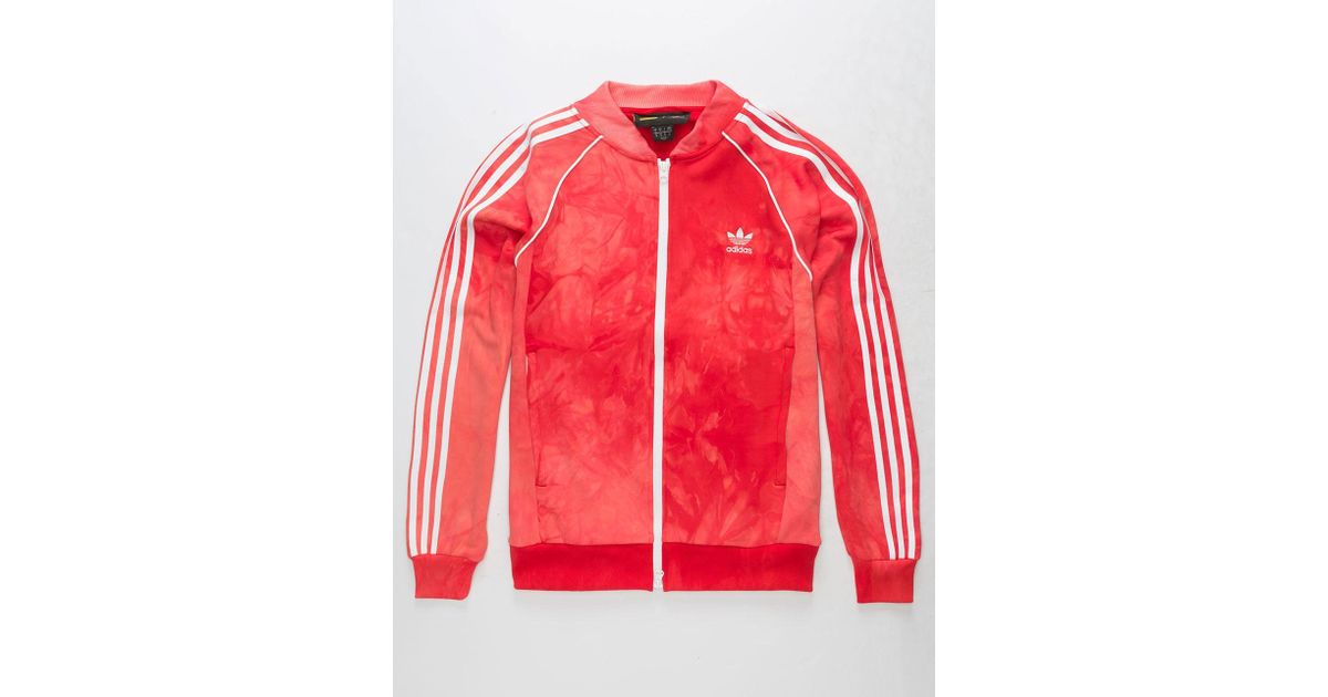 quality design 3b177 0f1b3 Lyst - adidas Originals Pharrell Williams Hu Holi Adicolor Scarlet Mens  Track Jacket in Red for Men