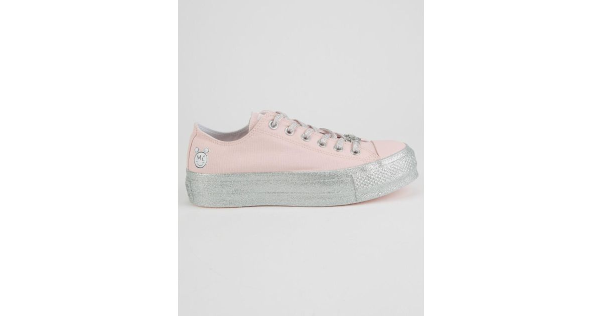 c1415751394b Lyst - Converse X Miley Chuck Taylor All Star Lift Pink Dogwood Low Top  Shoes in Pink