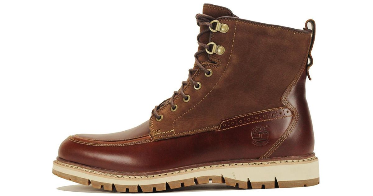 Timberland Leather Britton Hill Moc Toe