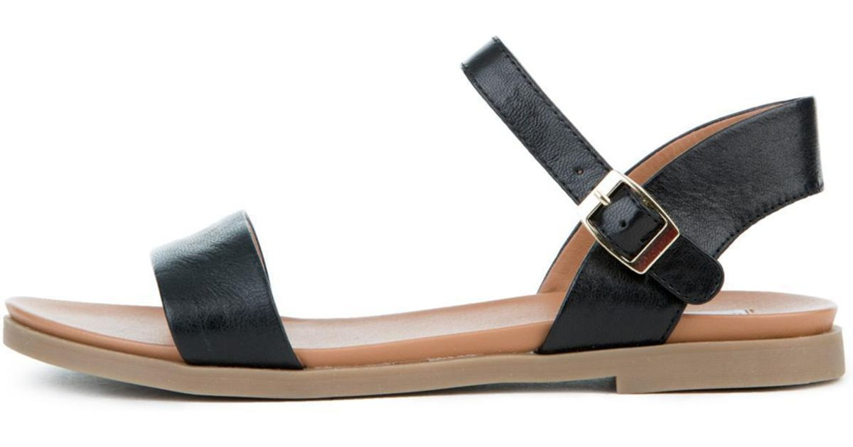9e7960f343e Steve Madden Dina Black Leather Sandals