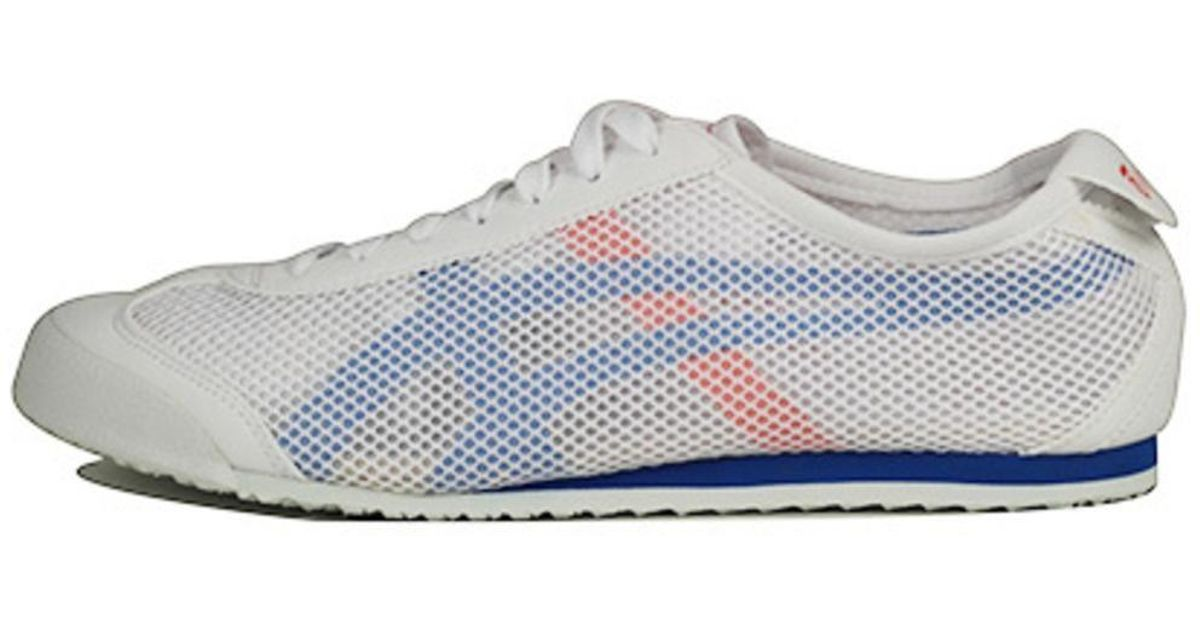 watch a00bb 03477 Onitsuka Tiger Unisex: Mexico 66 Mesh White & Strong Blue Sneakers