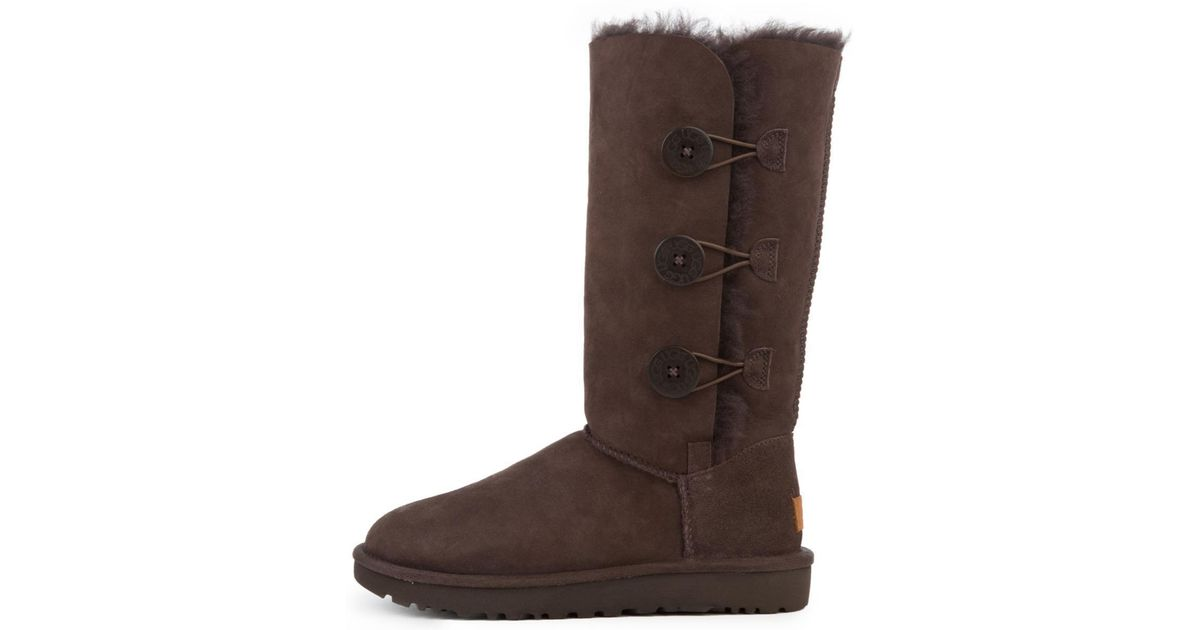 84992a26693 Ugg Brown Bailey Button Triplet Ii Chocolate Boots