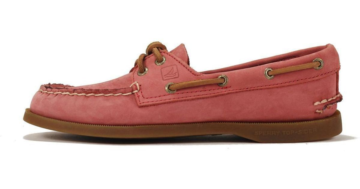 47a586c0360 Lyst - Sperry Top-Sider A o Washed Red Boat Shoe in Red for Men
