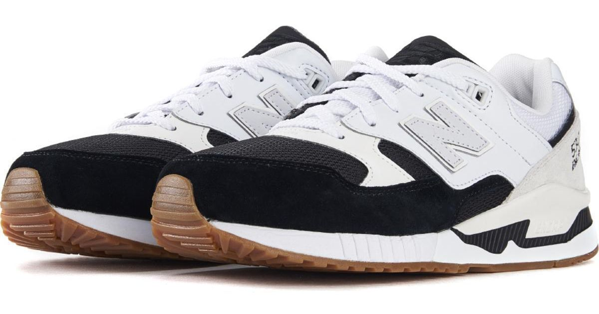 new product fad14 d93d3 New Balance 530 Summer Waves Black With White Running Shoes for men