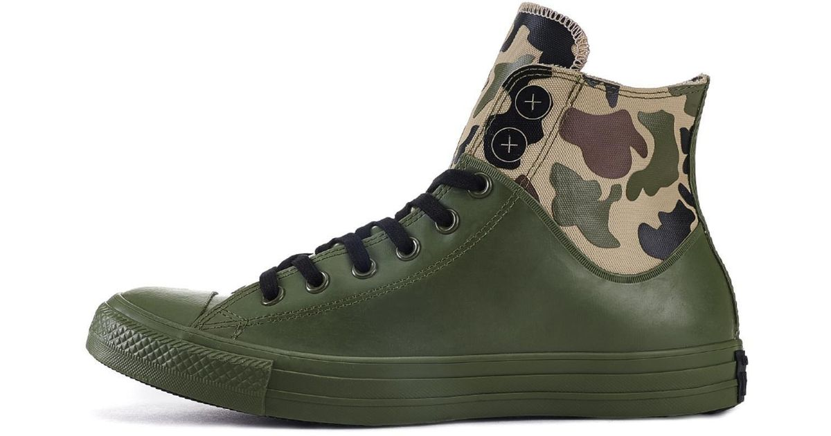 7face4a66547 Lyst - Converse Chuck Taylor All Star Camo Rubber Sneakers in Green for Men