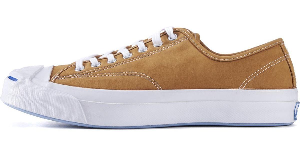 b52383f0fa25 Lyst - Converse Jack Purcell Signature Nubuck Luggage Tan Sneakers in Brown  for Men