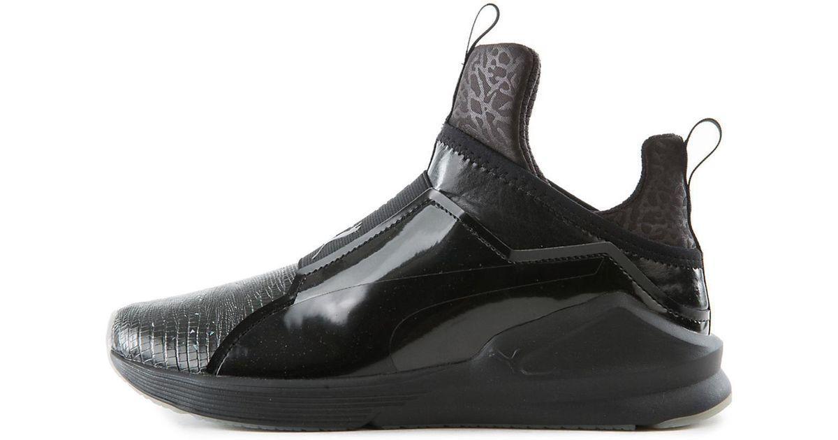 1bc4e283 PUMA Black Fierce Metallic Athletic Lifestyle Sneaker