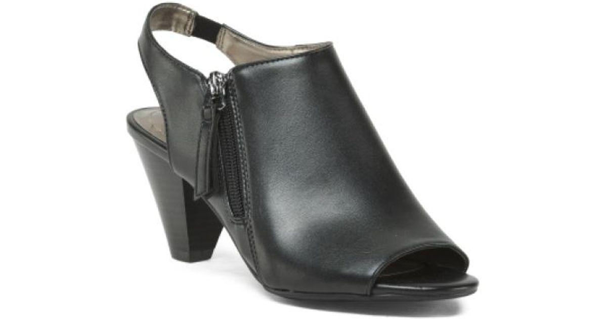 630f1884c1ec Lyst - Tj Maxx Peep Toe Covered Slingbacks in Black