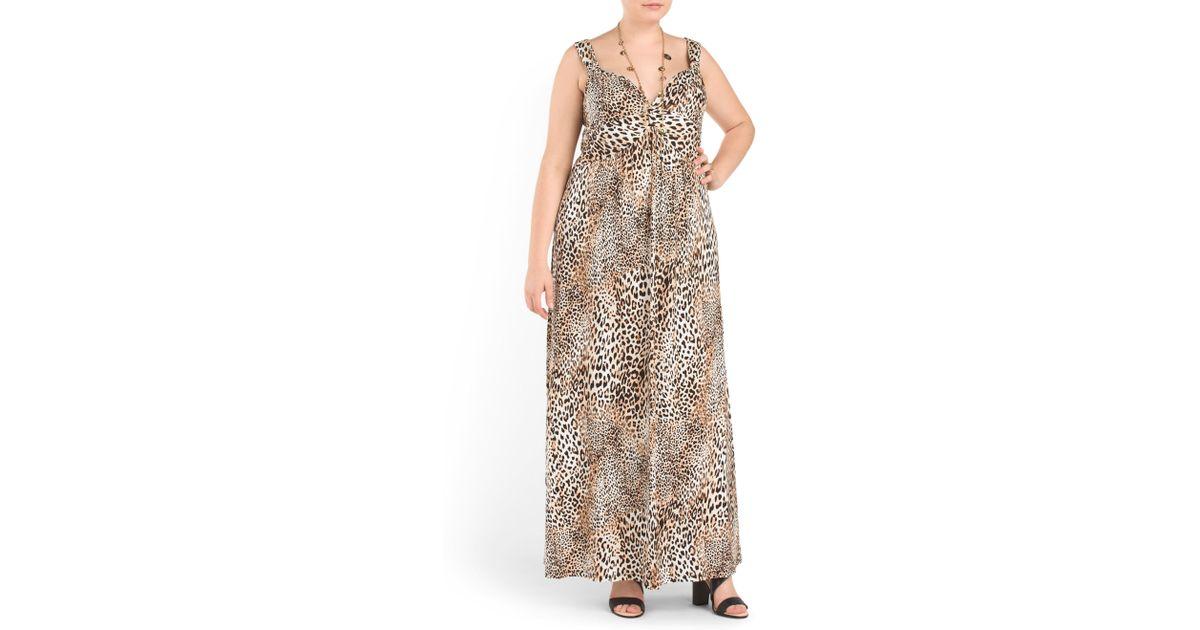 4b5639c251b4 Lyst - Tj Maxx Plus Leopard Knit Maxi Dress