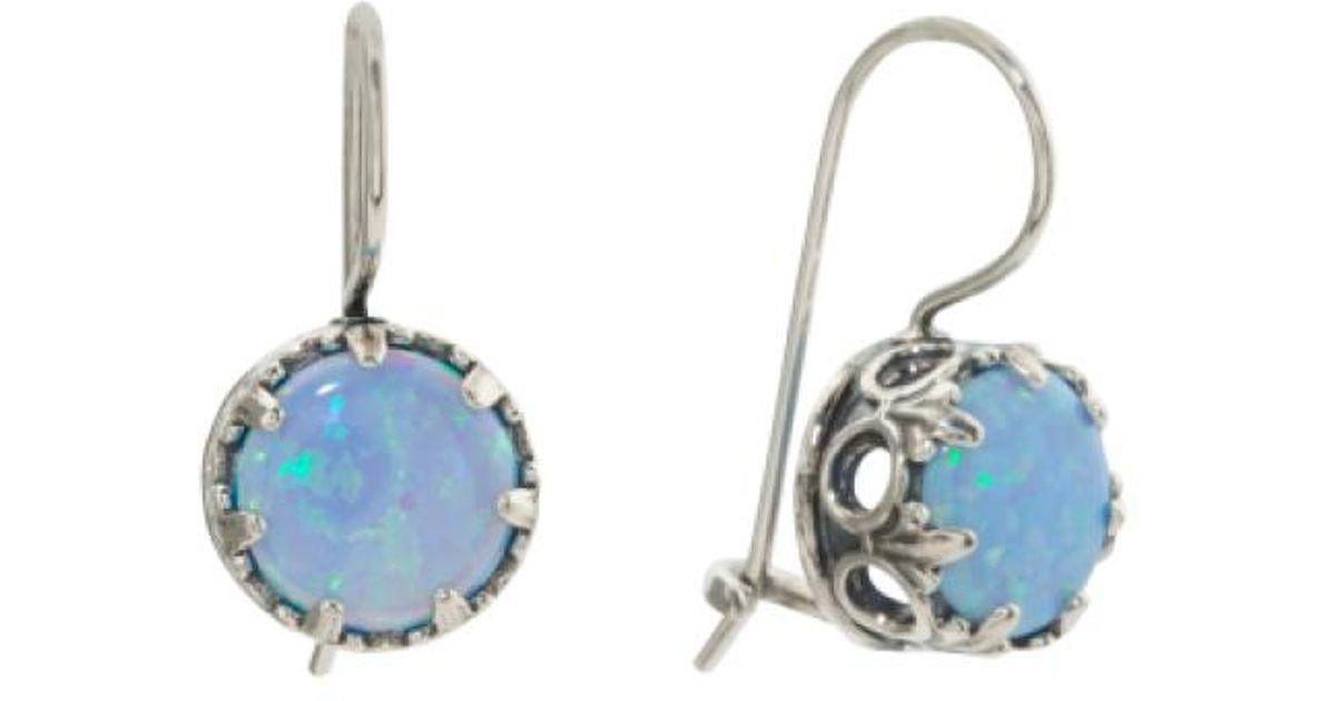 4d60a5b45f575 Tj Maxx Blue Made In Israel Sterling Silver Opal Drop Earrings