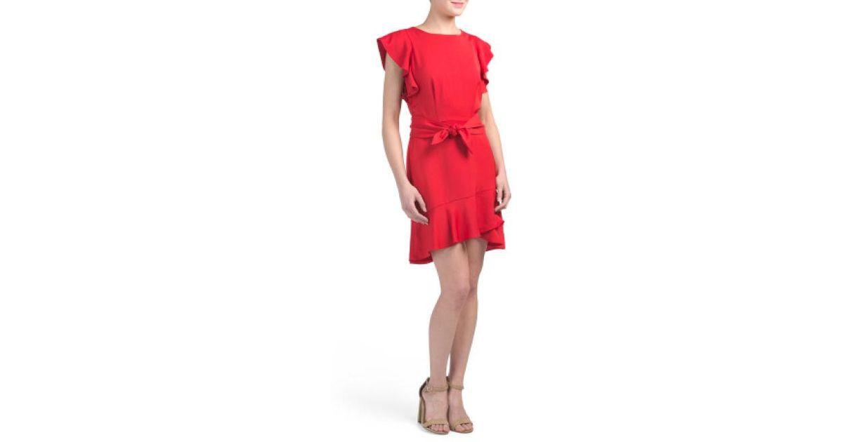 946c22e2ff08 Lyst - Tj Maxx Matilda Tie Dress in Red