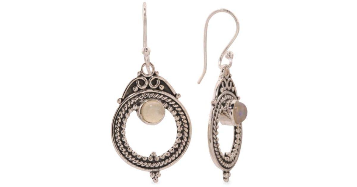 e56294e45 Lyst - Tj Maxx Made In India Sterling Silver Gemstone Hoop Beaded Earrings  in Metallic