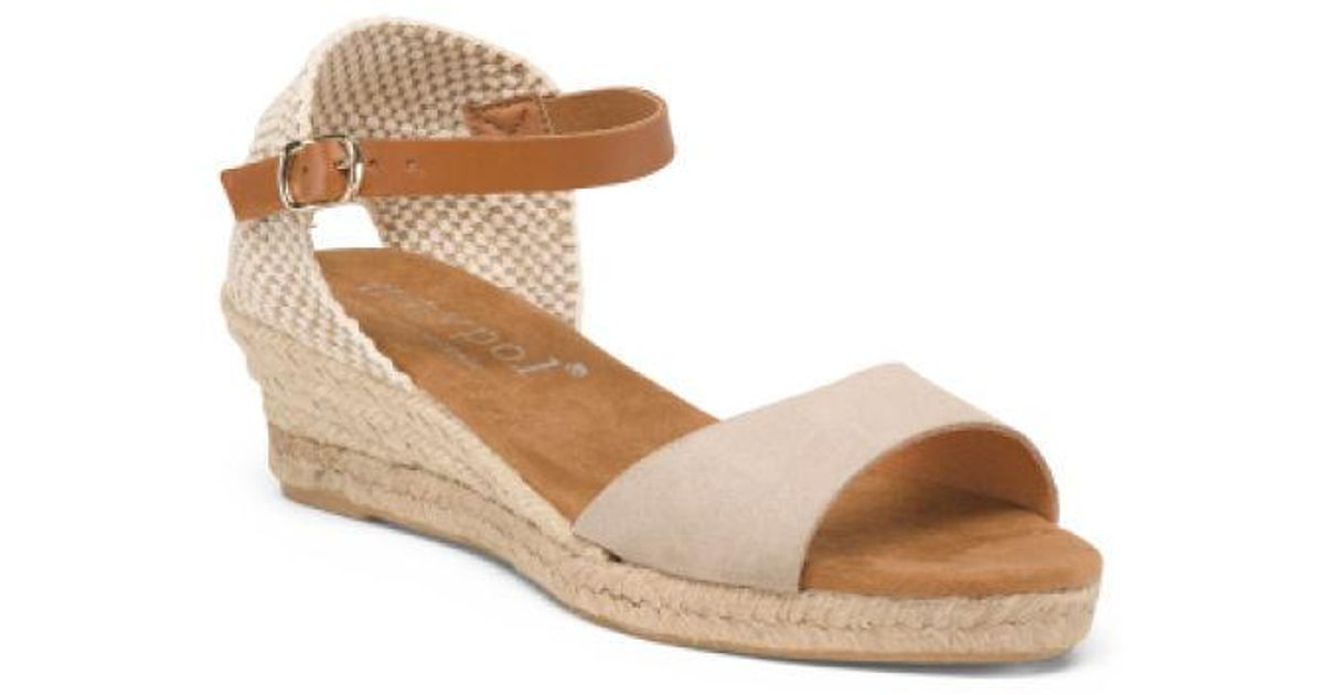 8133844283b Tj Maxx Made In Spain One Band Leather Espadrilles - Lyst