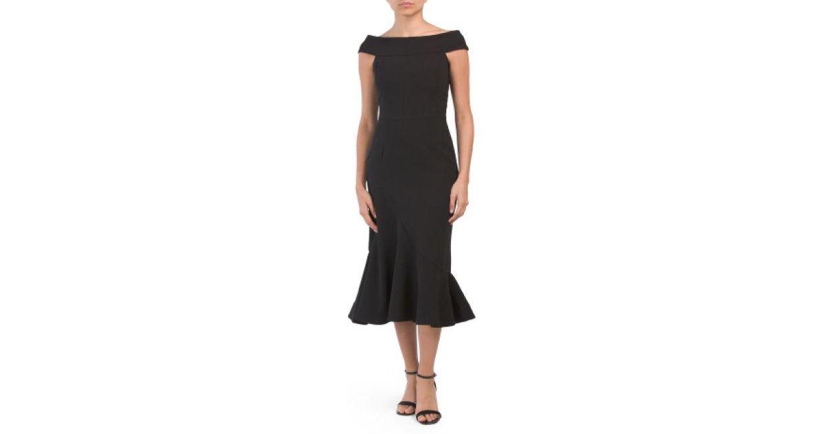 163fe6c0869 Lyst - Tj Maxx Made In Usa Natalia Midi Dress in Black