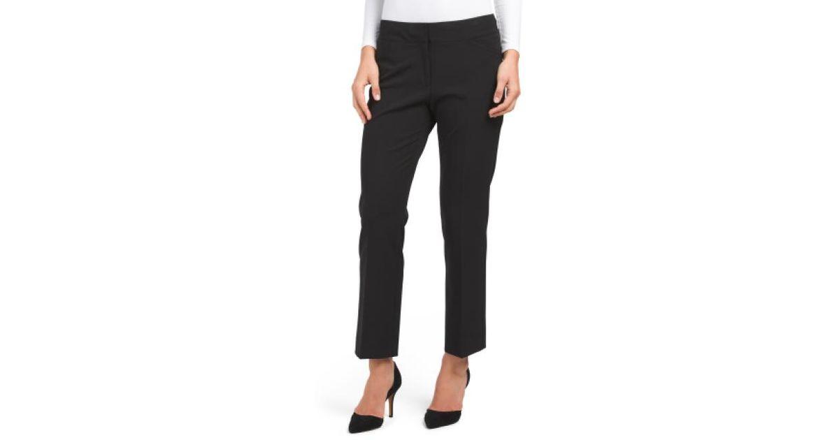 Lyst Tj Maxx Petite Bi Stretch Trousers In Black
