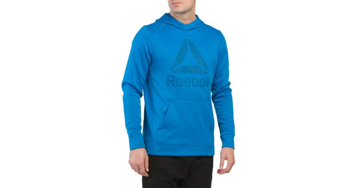 Lyst tj maxx workout ready fleece hoodie in blue for men for Tj maxx t shirts