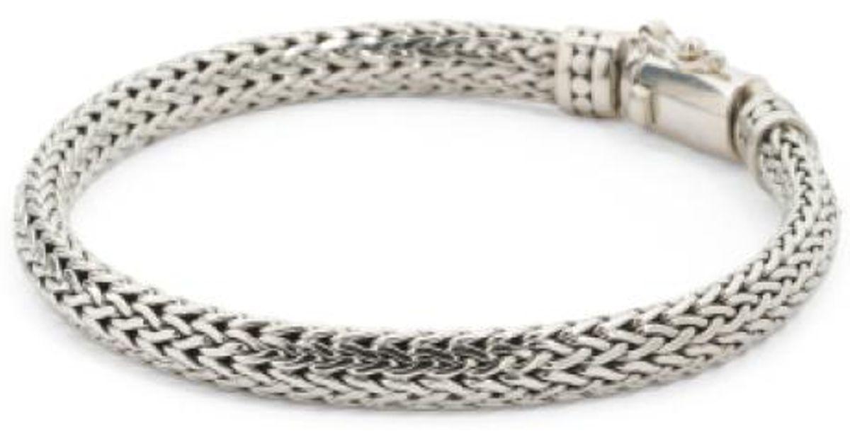 Lyst Tj Ma Men S Handcrafted In Bali Sterling Silver Bracelet Metallic For