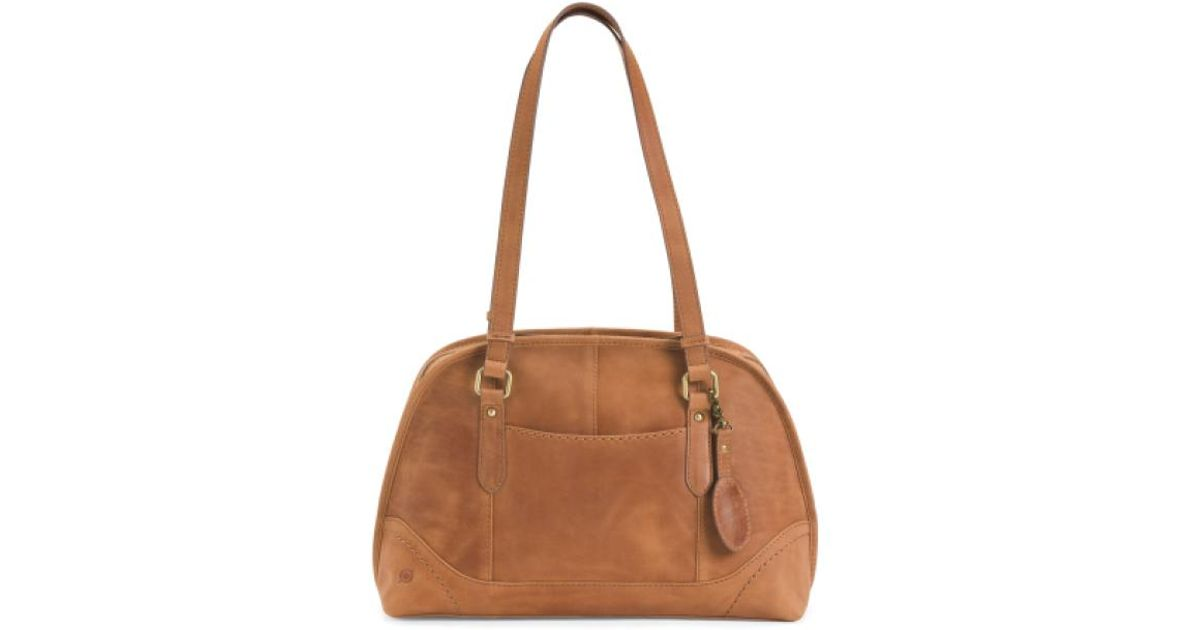 Lyst - Tj Maxx Glendale Distressed Leather Satchel in Brown 5bcc1026f5885