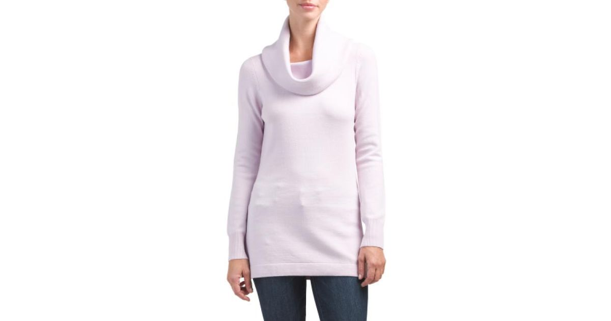 Tj maxx Baby Soft Cowl Neck Tunic Sweater in Purple | Lyst