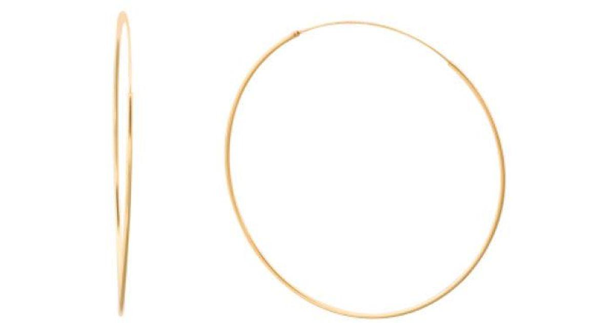 fcd2b9315a1e5 Tj Maxx Metallic Sterling Silver 60mm Endless Hoop Earrings
