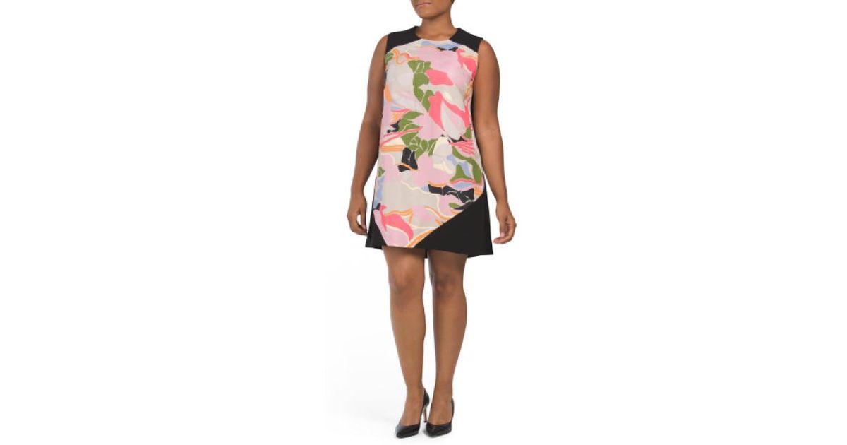 b78944ff072a Lyst - Tj Maxx Plus Printed Shift Dress