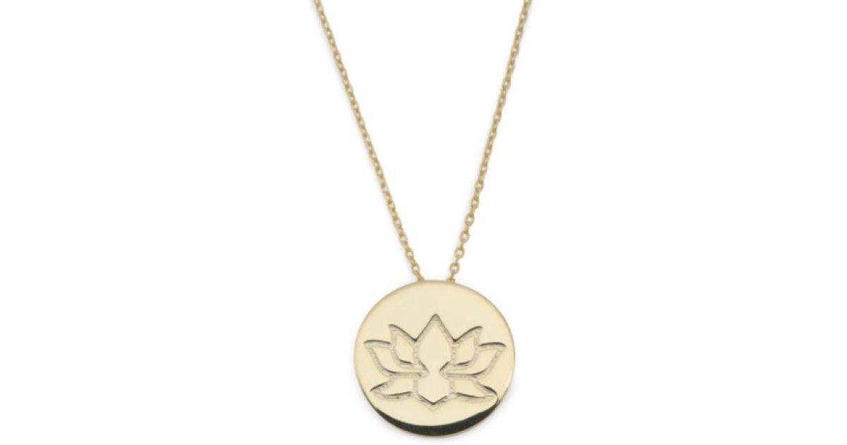 Tj Maxx Gold Plated Sterling Silver Lotus Flower Necklace In