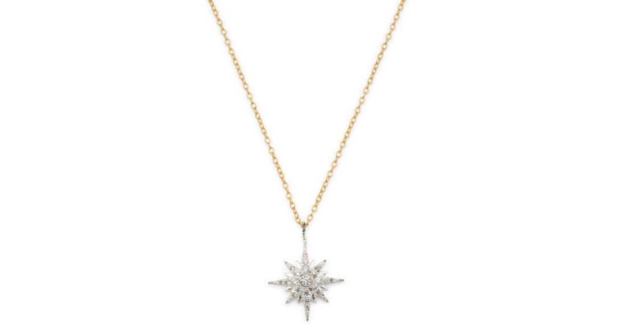 1070e15ffaf76 Tj Maxx - Metallic Sterling Silver 2 Tone Cz North Star Necklace - Lyst