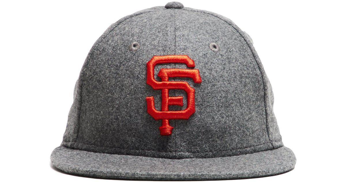 02645b3c0ba Lyst - NEW ERA HATS Exclusive New Era Sf Giants Hat In Italian Barberis  Light Grey Wool in Gray for Men