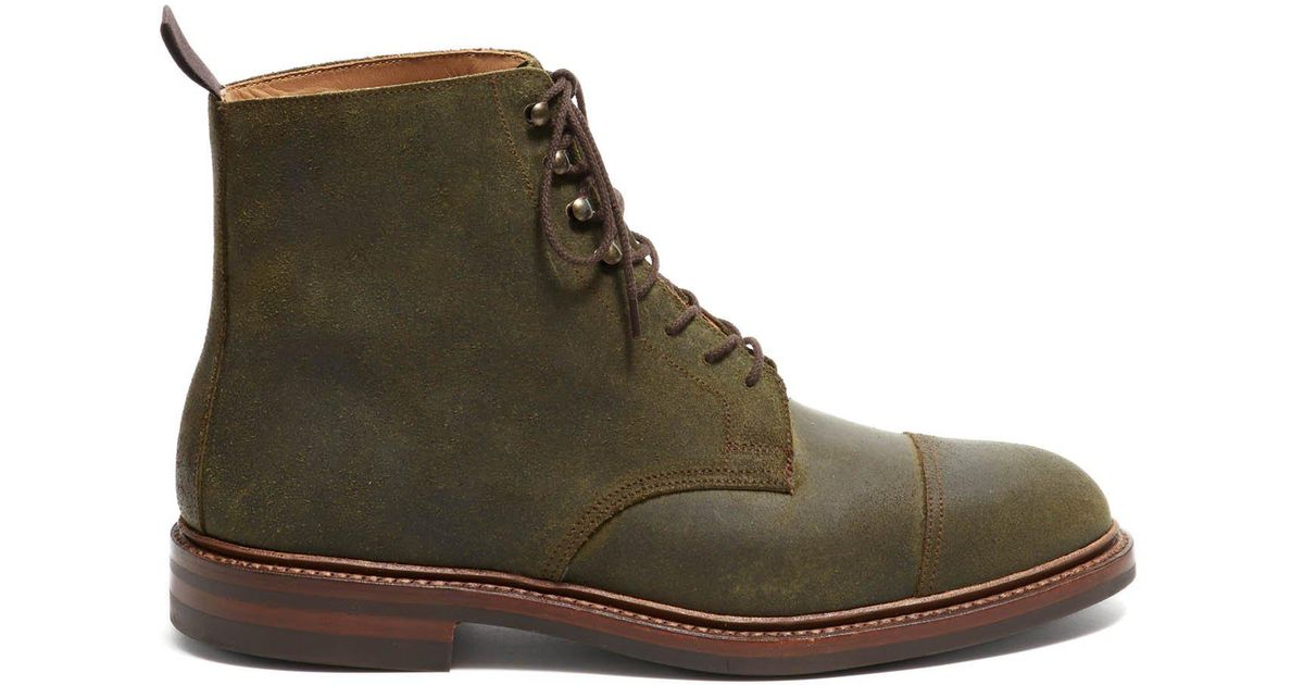 1253f3fc902 Crockett and Jones Crockett And Jones Coniston Green Rough Out Suede for men