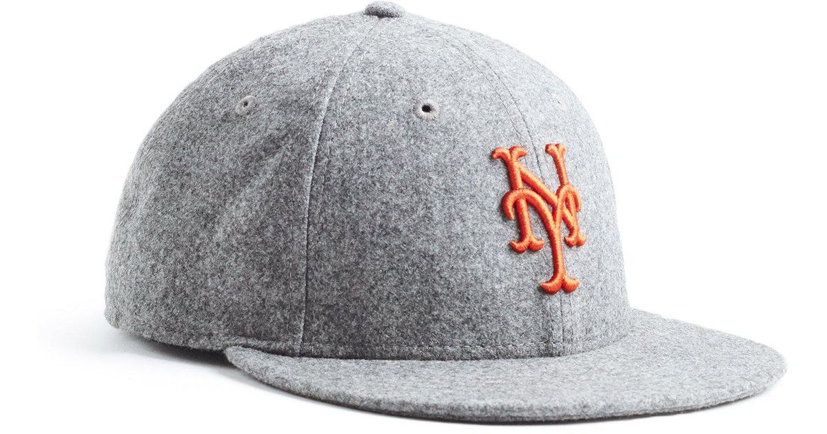 Lyst - NEW ERA HATS Exclusive Ny Mets Hat In Italian Barberis Wool Flannel  in Gray for Men 6c0cb4ef66fc