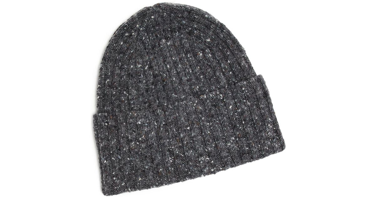0b4befb41e0 Drake s Donegal Merino Wool Hat In Charcoal in Gray for Men - Lyst